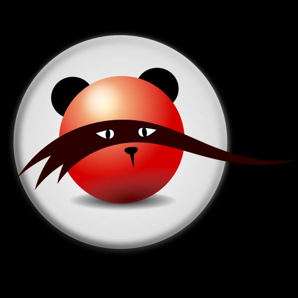 Mystic bear icon vector clip art