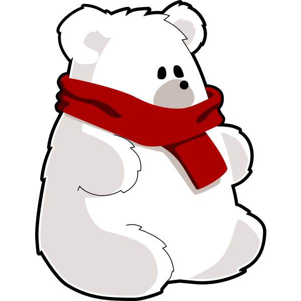 Bear with red scarf