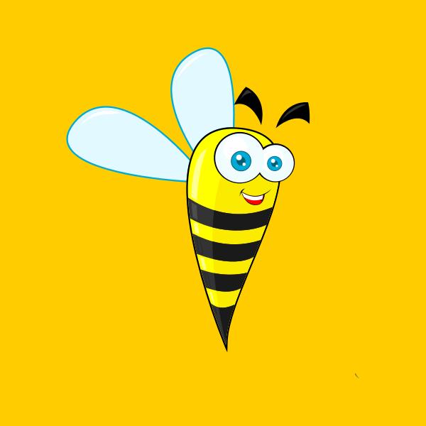 Bee vector clip art image