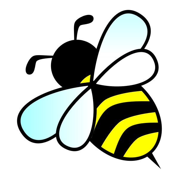 Vector image of a bee