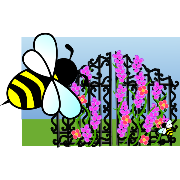 Bee scene vector image