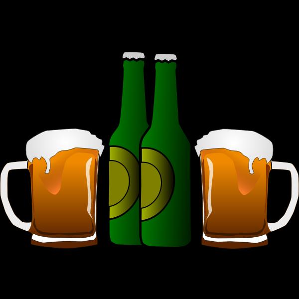 Vector graphics of beers