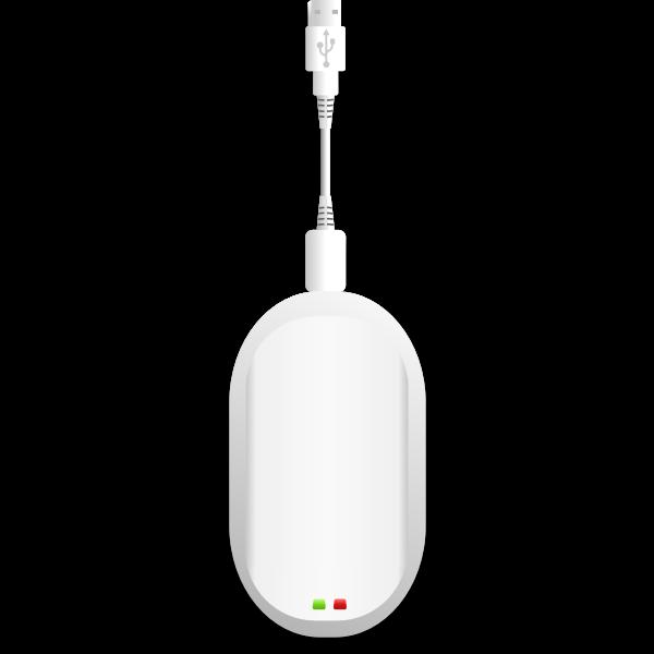 Vector image of USB wireless broadband modem