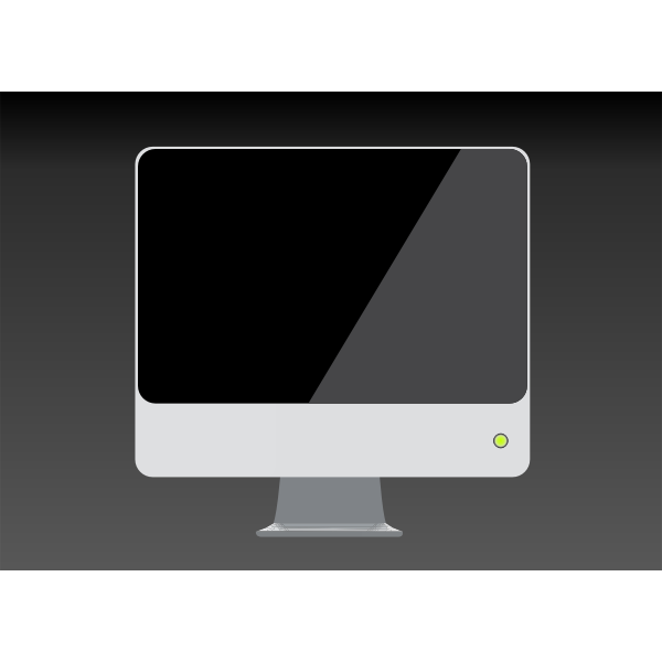 LCD screen on grey background vector image