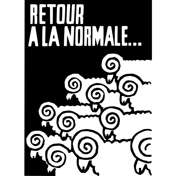 Return to normal poster vector illustration