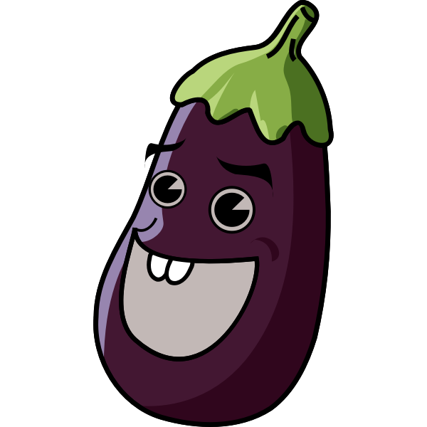 Vector clip art of eggplant