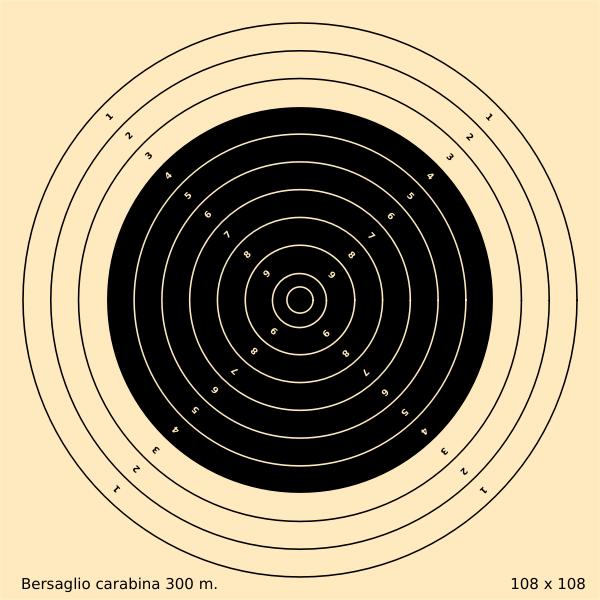 300m bullet shooting target vector clip art