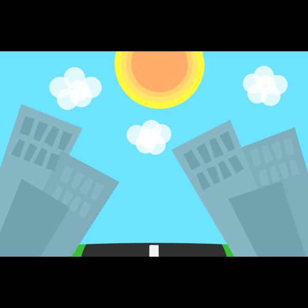 Cartoon cities background vector image