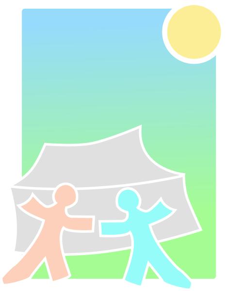bg tent people sun
