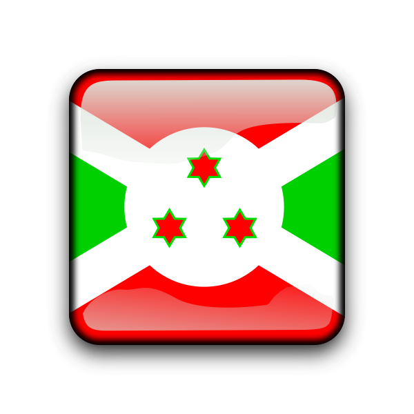 Burundi flag button vector