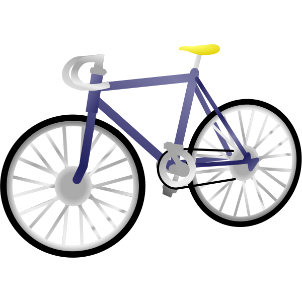 Single speed bicycle vector clip art