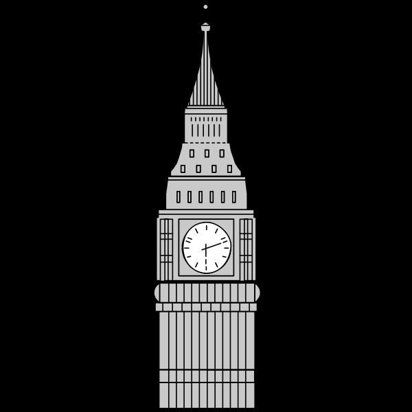 Gray Big Ben image