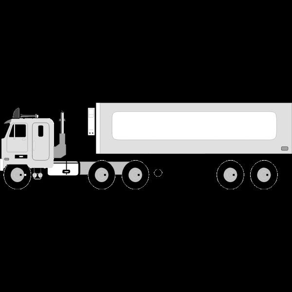 Big lorry vector illustration