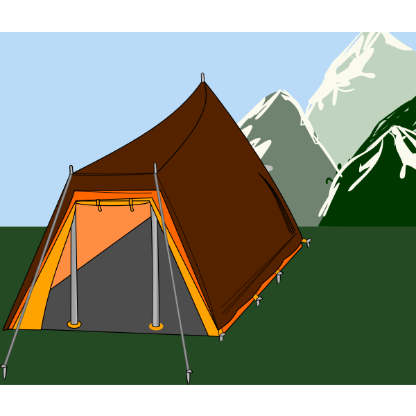 Tent in nature vector image