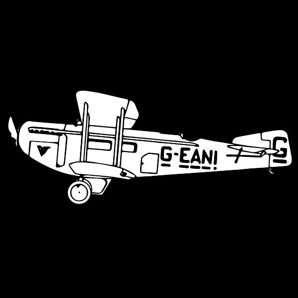 Biplane outline clip art