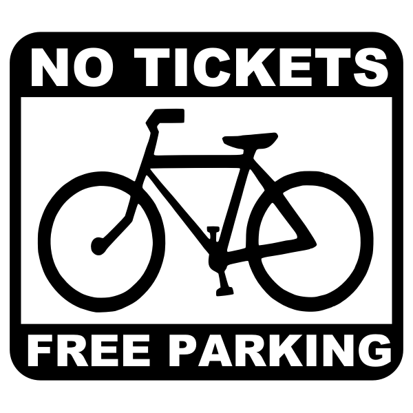 Free parking for bicycles sign vector illustration