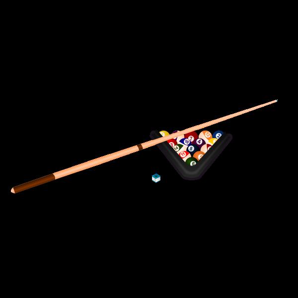 Billiard equipment vector clip art