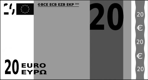 Billet de banque de 20 euros.