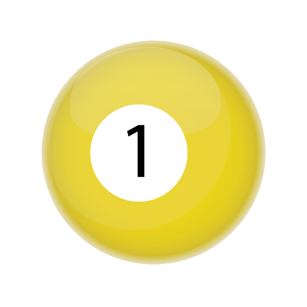 Yellow billiards ball