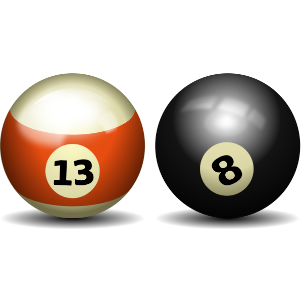 Two snooker balls
