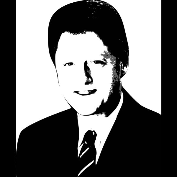Bill Clinton vector graphics