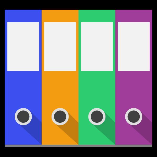 Binders vector clip art