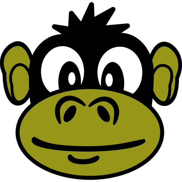 Funny monkey vector illustration