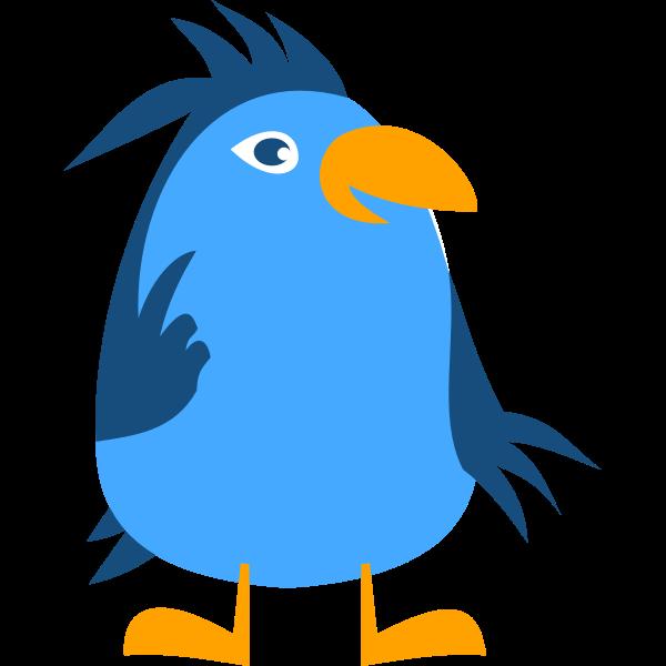 Vector graphics of thoughtful comic bird