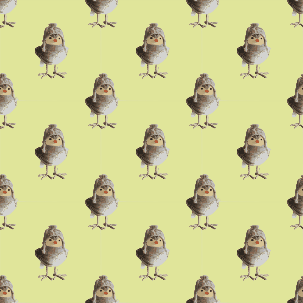 Bird craftwork - seamless pattern