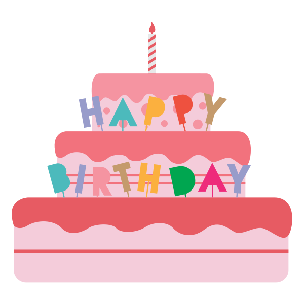 Birthday cake vector illustration