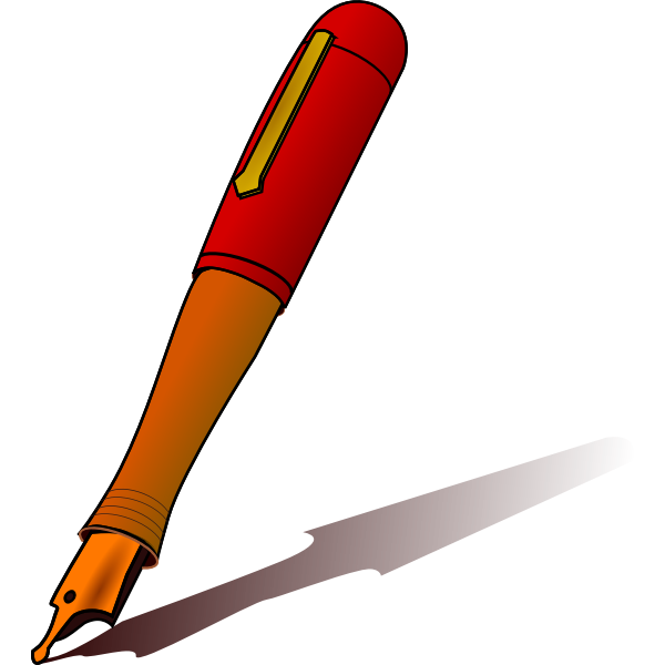 Pen with shadow