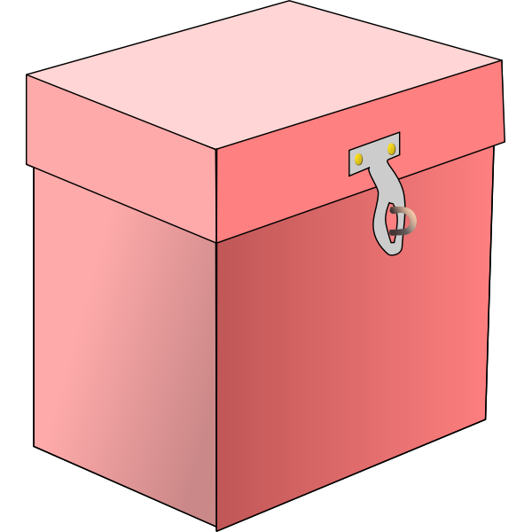 Vector image of a red box