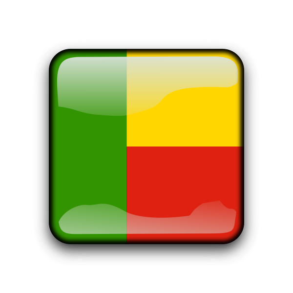 Benin vector flag button
