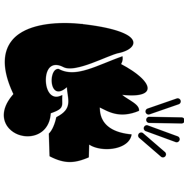 Female speaker silhouette vector image