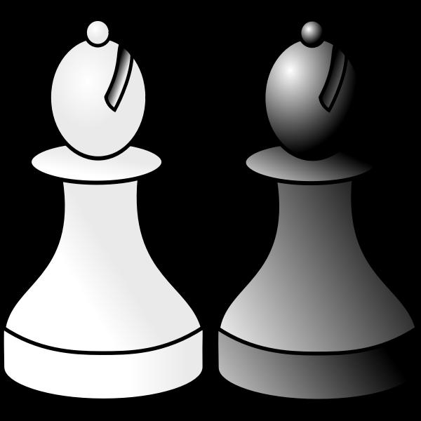 Black and white bishop