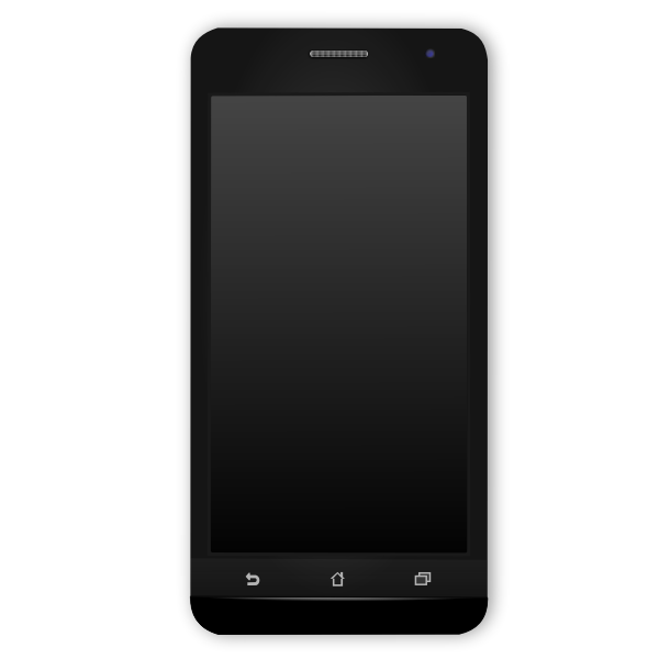 Black Android phone