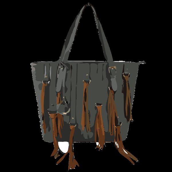 black bag brown tassles
