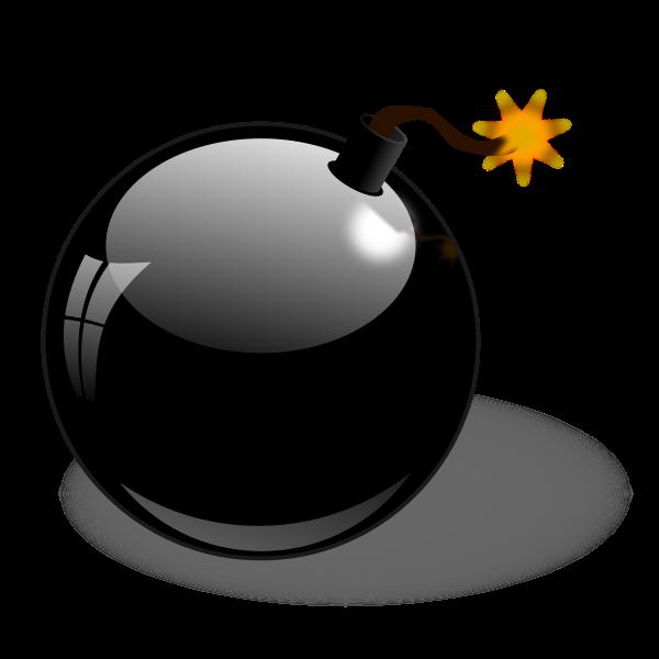Black bomb vector clip art