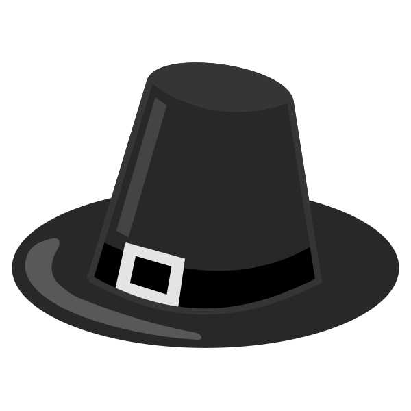 Pilgrim's hat vector drawing