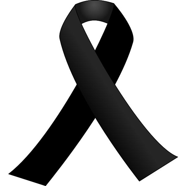 Black ribbon vector drawing