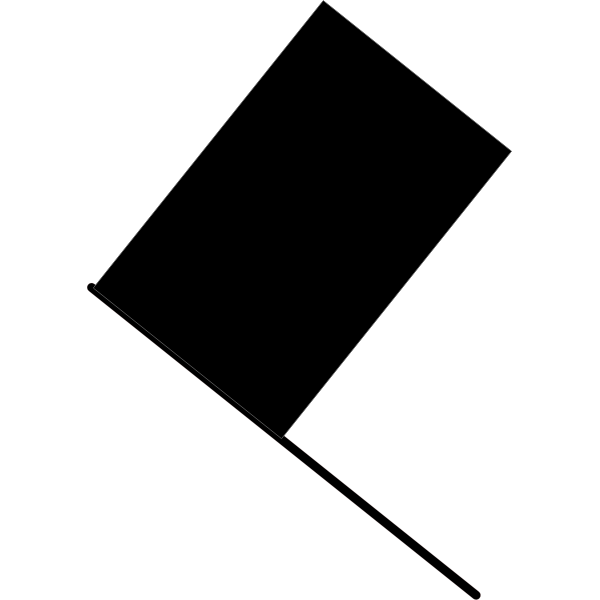 Black flag clip art vector