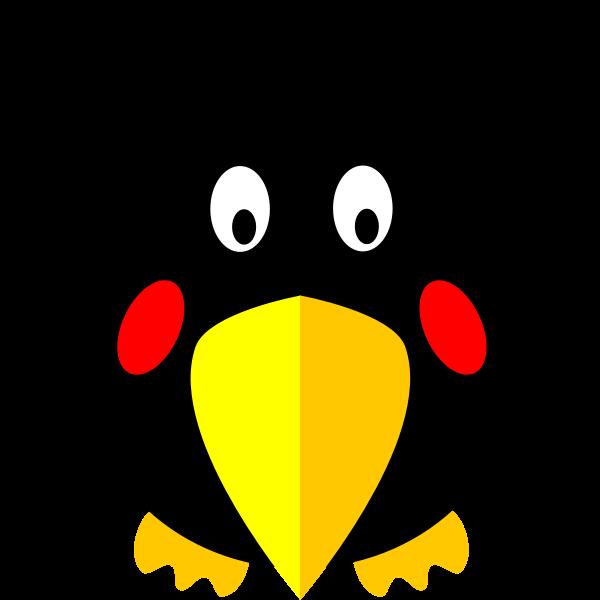 Hunky cartoon bird vector clip art