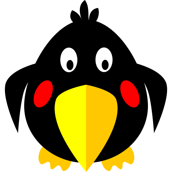 Hunky cartoon bird vector clip art