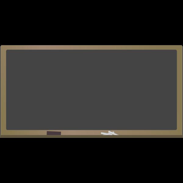 Blank blackboard vector image