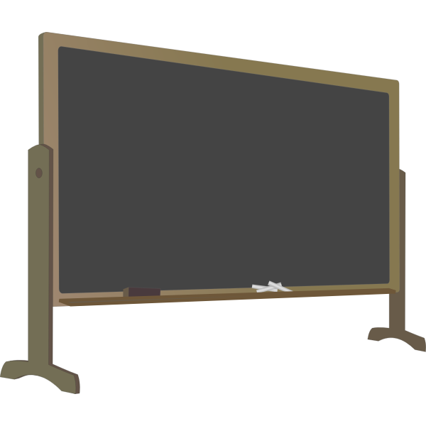 Blackboard with stand vector image