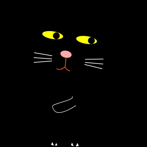 Black cat and Moon vector clip art