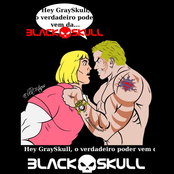 Black gray skull