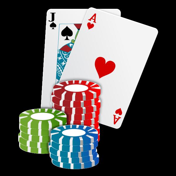 Vector Illustration Of Casino Chips Poker Cards Free Svg
