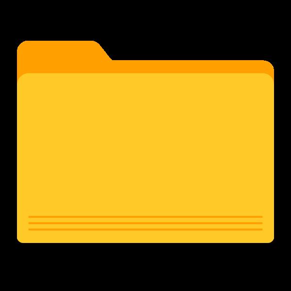 Blank yellow folder