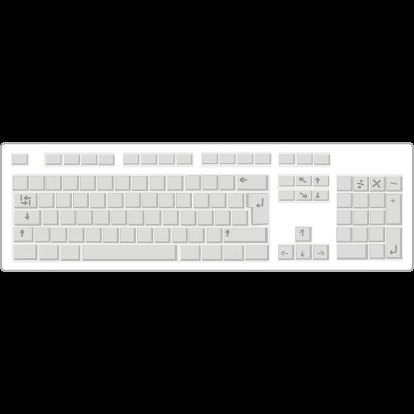 Blank white keyboard vector drawing